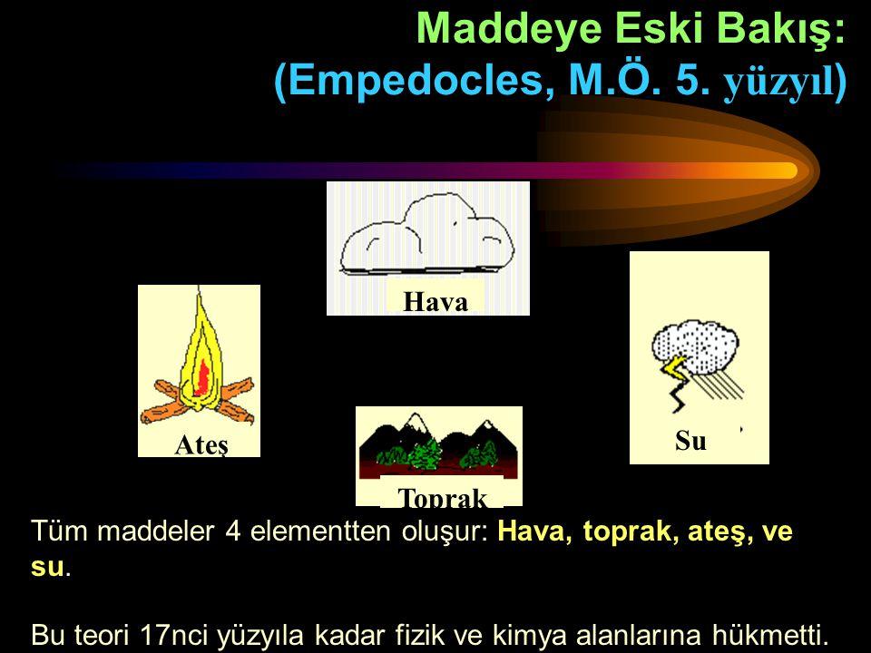 Maddeye Eski Bakış: (Empedocles, M.Ö. 5. yüzyıl)