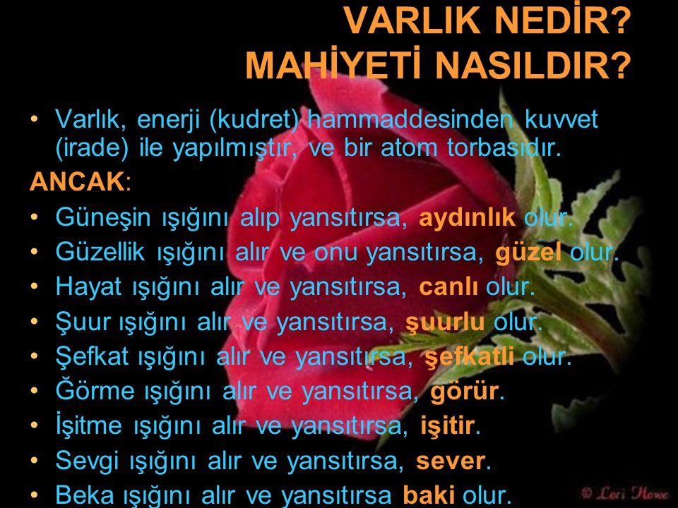 VARLIK NEDİR MAHİYETİ NASILDIR
