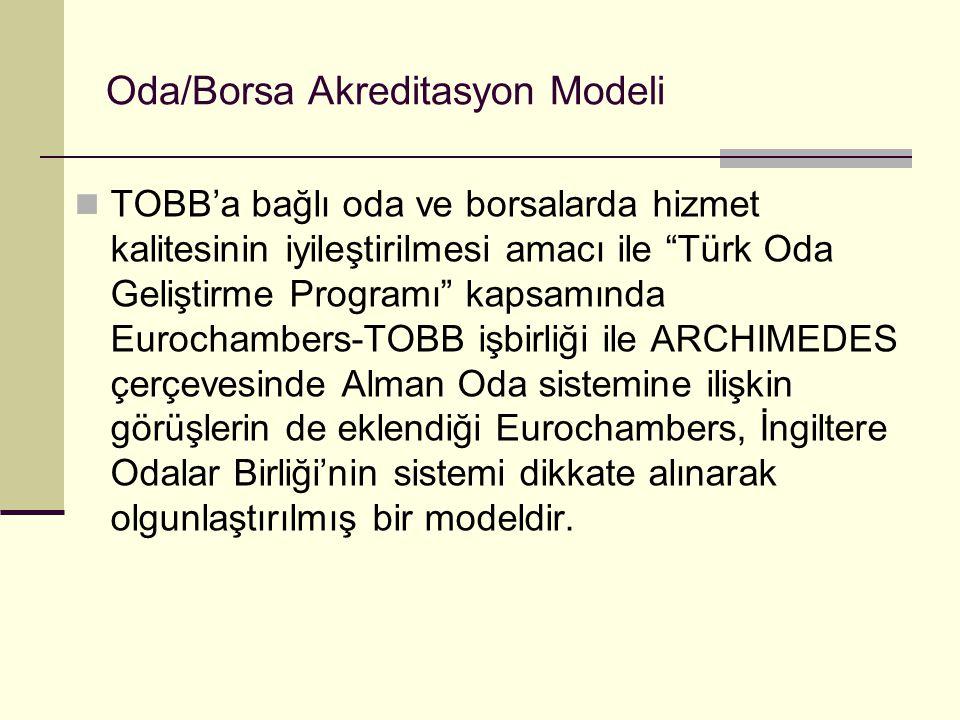 Oda/Borsa Akreditasyon Modeli