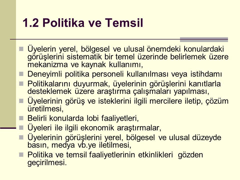 1.2 Politika ve Temsil