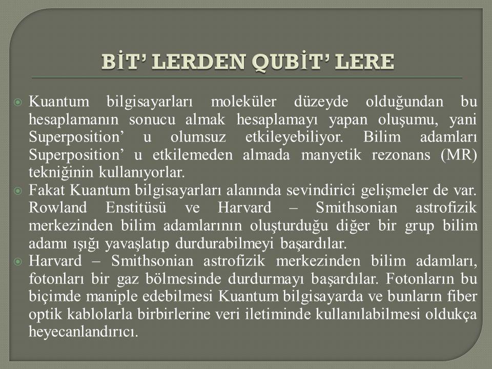 BİT' LERDEN QUBİT' LERE