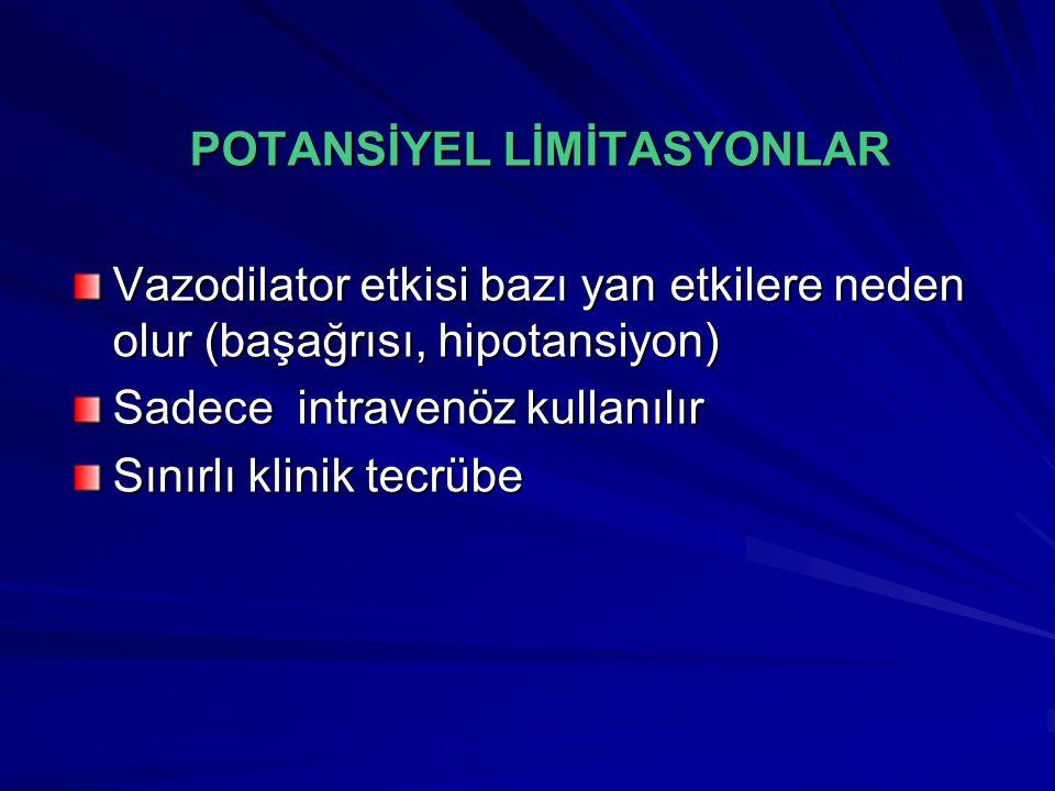 POTANSİYEL LİMİTASYONLAR