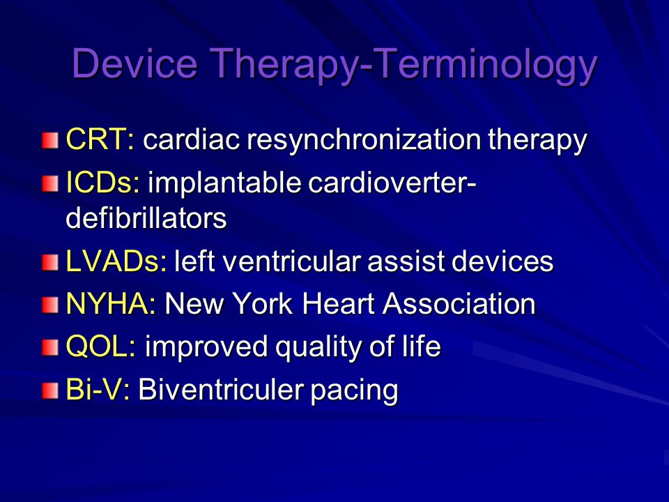 Device Therapy-Terminology