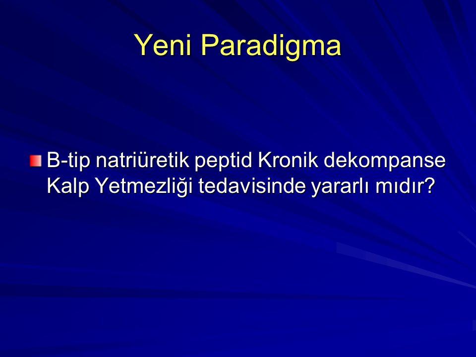 Yeni Paradigma B-tip natriüretik peptid Kronik dekompanse Kalp Yetmezliği tedavisinde yararlı mıdır