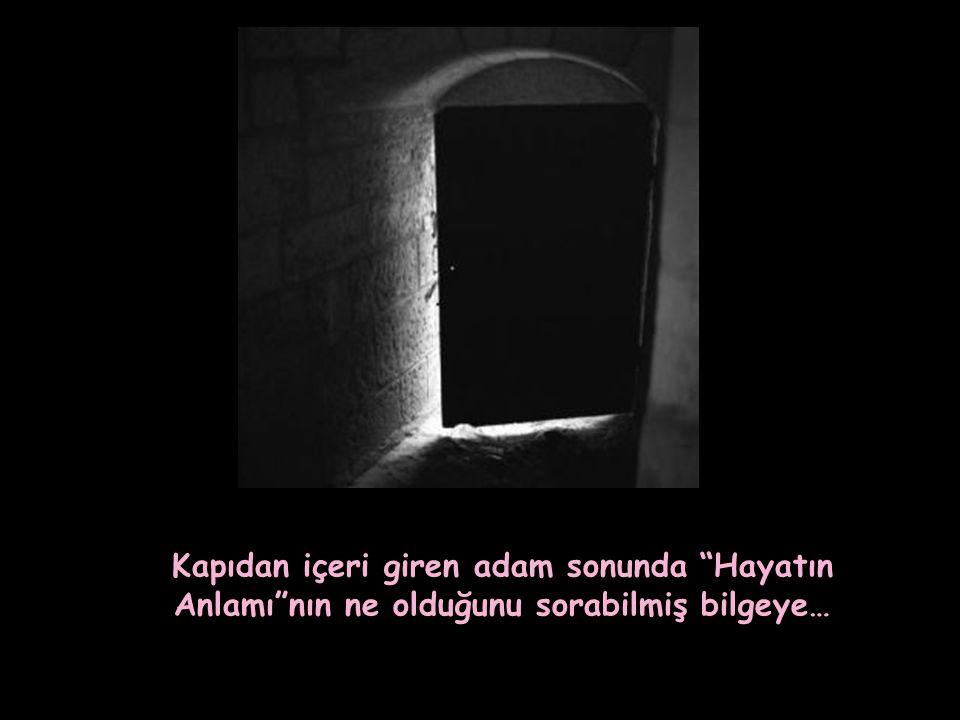 Kapıdan içeri giren adam sonunda Hayatın Anlamı nın ne olduğunu sorabilmiş bilgeye…