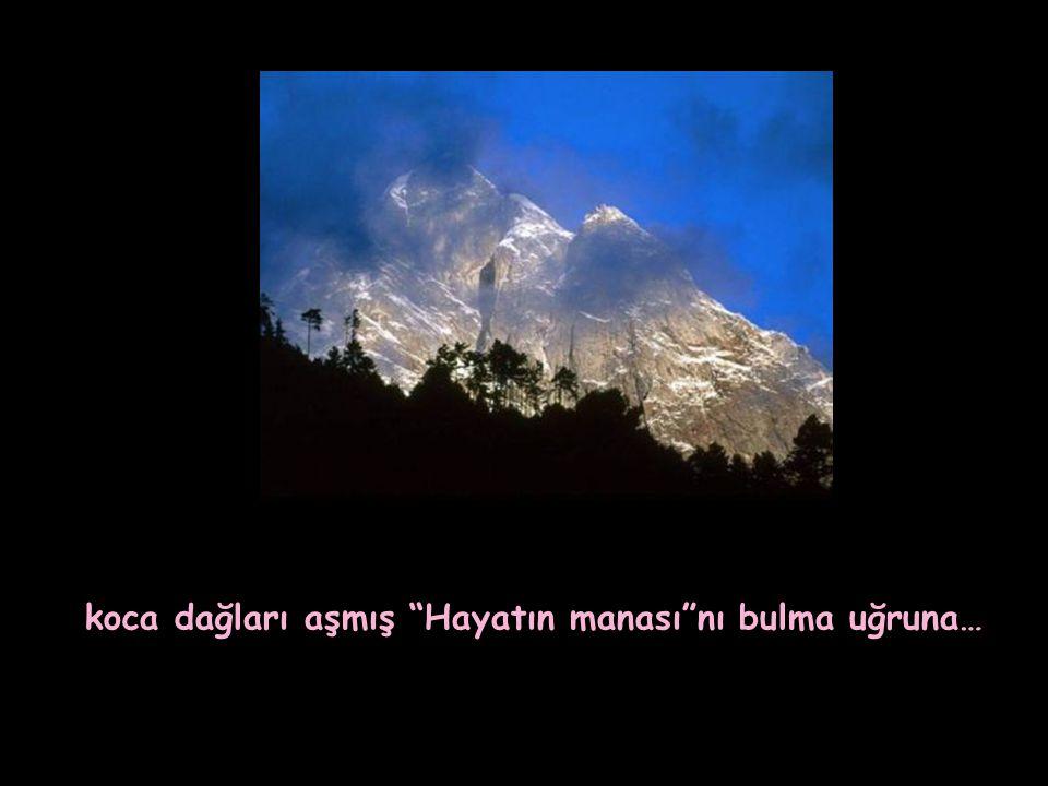 koca dağları aşmış Hayatın manası nı bulma uğruna…