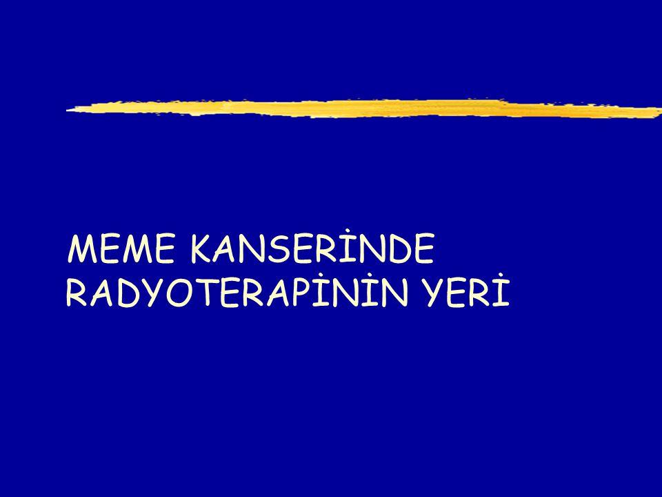 MEME KANSERİNDE RADYOTERAPİNİN YERİ