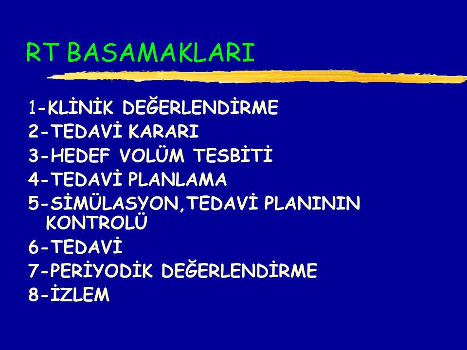 RT BASAMAKLARI 1-KLİNİK DEĞERLENDİRME 2-TEDAVİ KARARI