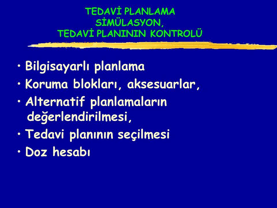 TEDAVİ PLANLAMA SİMÜLASYON, TEDAVİ PLANININ KONTROLÜ