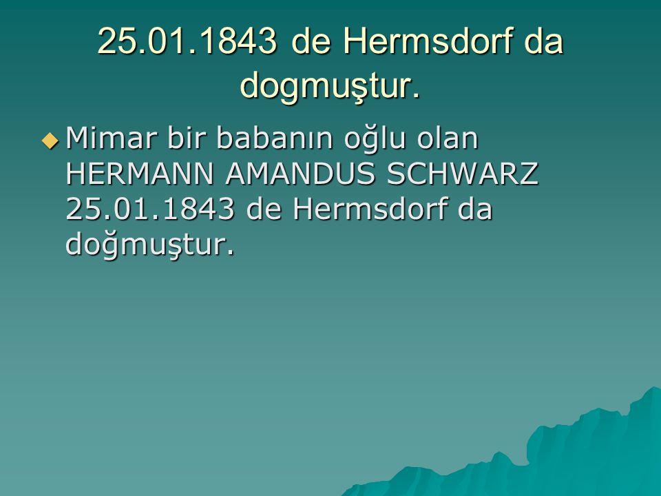 25.01.1843 de Hermsdorf da dogmuştur.