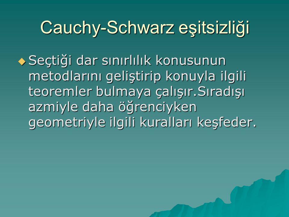 Cauchy-Schwarz eşitsizliği