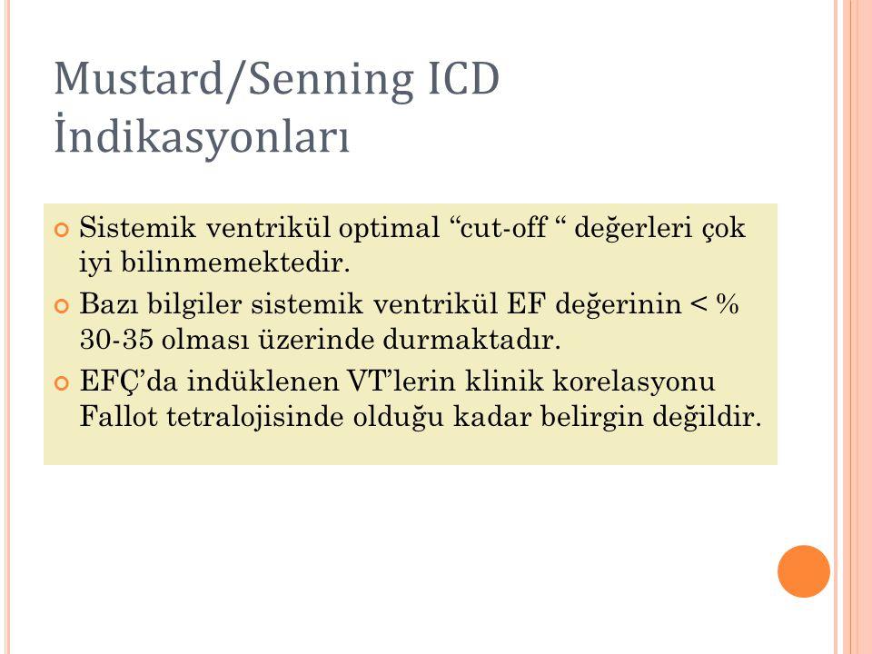 Mustard/Senning ICD İndikasyonları