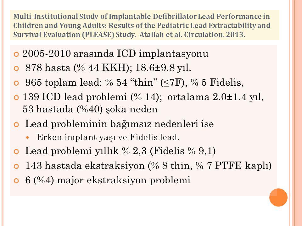 2005-2010 arasında ICD implantasyonu