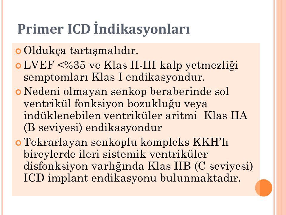 Primer ICD İndikasyonları