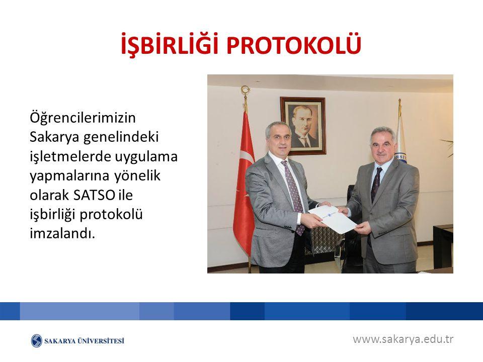 İŞBİRLİĞİ PROTOKOLÜ Öğrencilerimizin Sakarya genelindeki işletmelerde uygulama yapmalarına yönelik olarak SATSO ile işbirliği protokolü imzalandı.