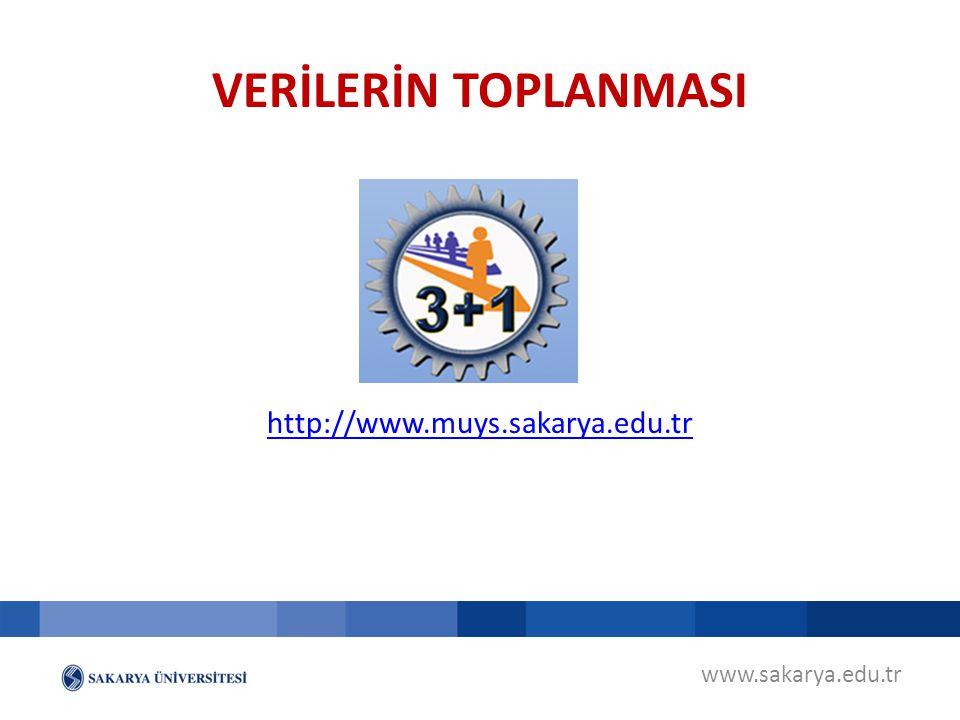 VERİLERİN TOPLANMASI http://www.muys.sakarya.edu.tr www.sakarya.edu.tr