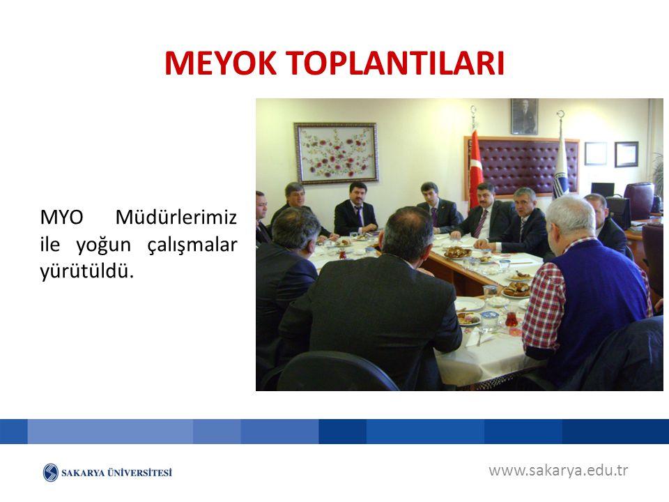MEYOK TOPLANTILARI MYO Müdürlerimiz ile yoğun çalışmalar yürütüldü.