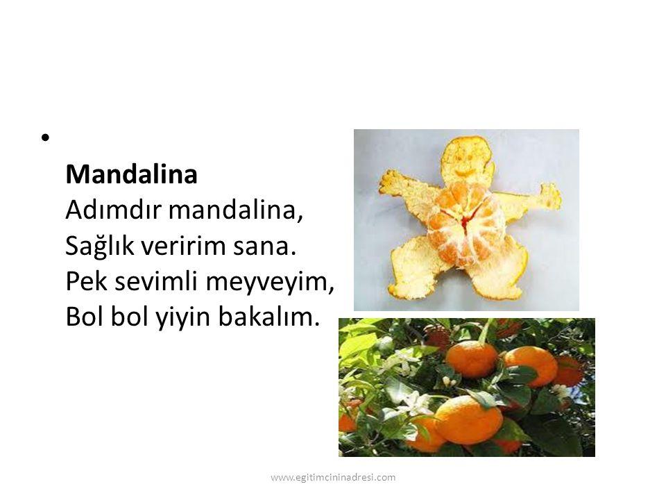 Mandalina Adımdır mandalina, Sağlık veririm sana