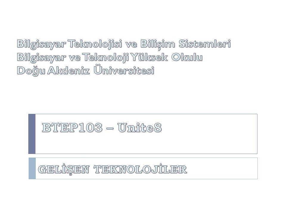 BTEP205 İşletim Sistemleri BTEP103 – Unite8