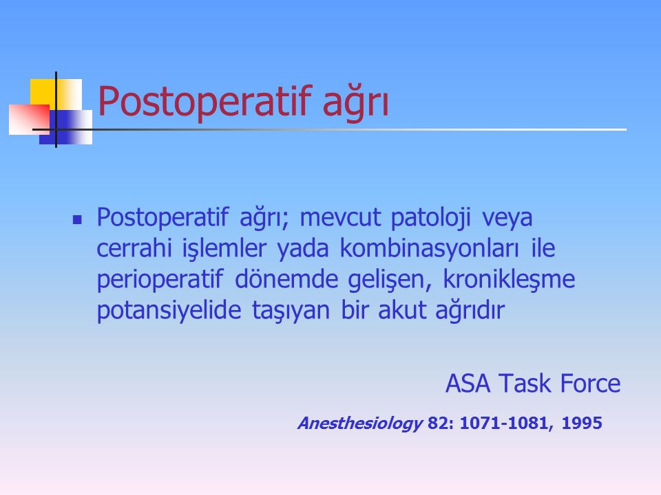 Postoperatif ağrı