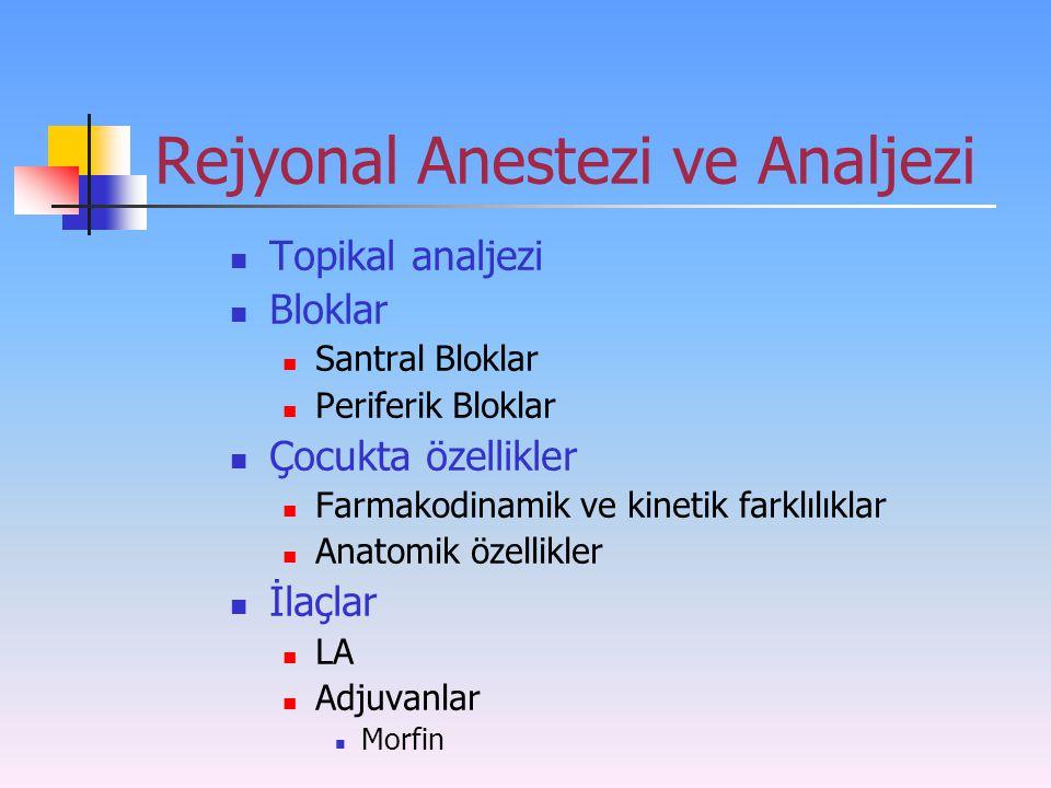 Rejyonal Anestezi ve Analjezi