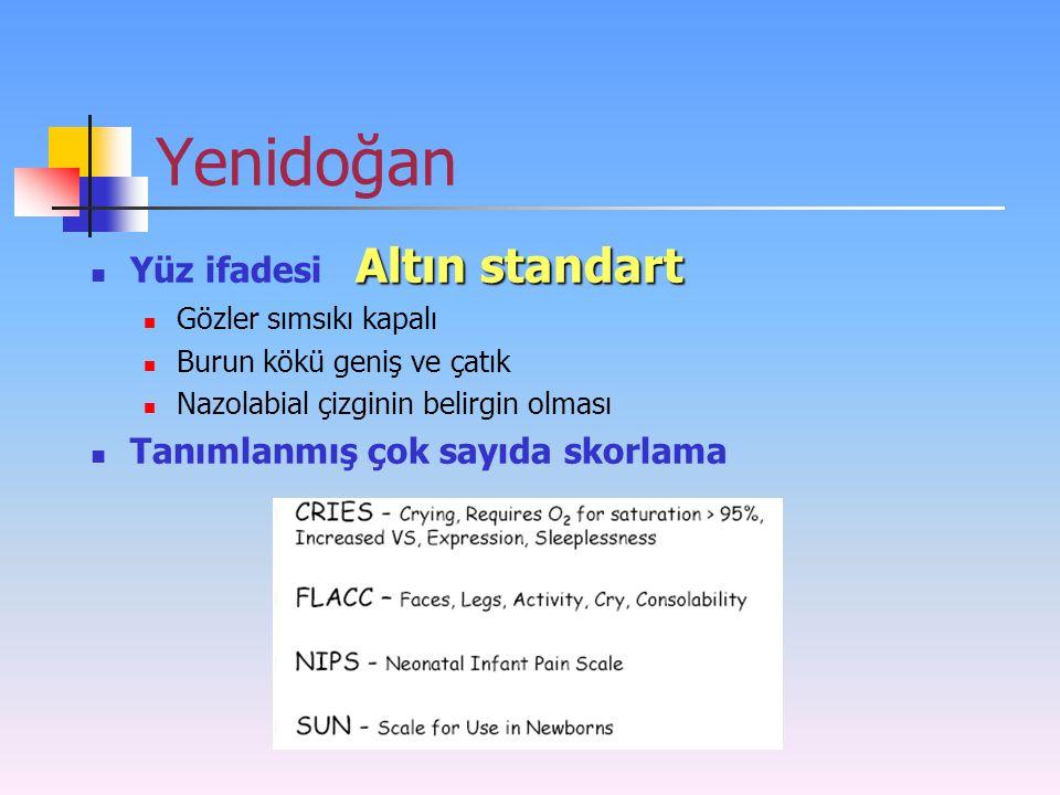 Yenidoğan Yüz ifadesi Altın standart Tanımlanmış çok sayıda skorlama