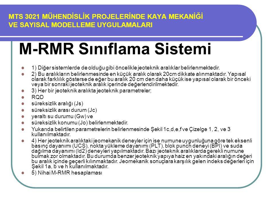 M-RMR Sınıflama Sistemi