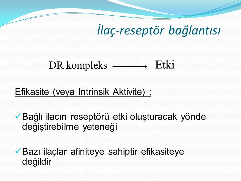 İlaç-reseptör bağlantısı
