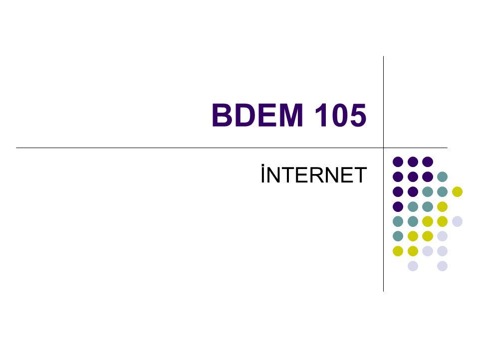 BDEM 105 İNTERNET