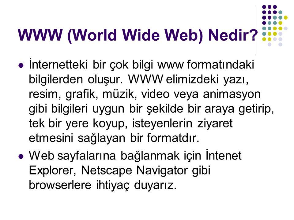 WWW (World Wide Web) Nedir