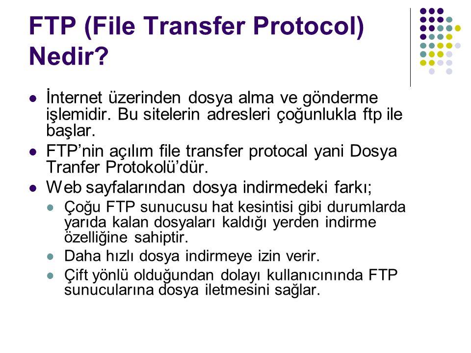 FTP (File Transfer Protocol) Nedir