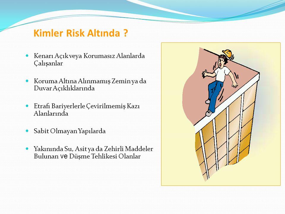 Kimler Risk Altında Kenarı Açık veya Korumasız Alanlarda Çalışanlar