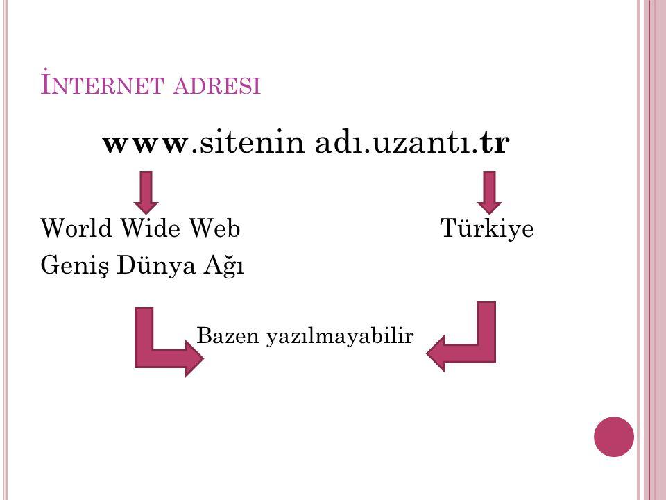 www.sitenin adı.uzantı.tr