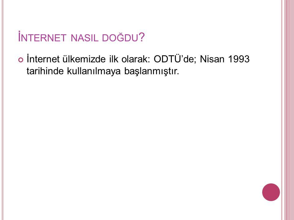 İnternet nasil doğdu.