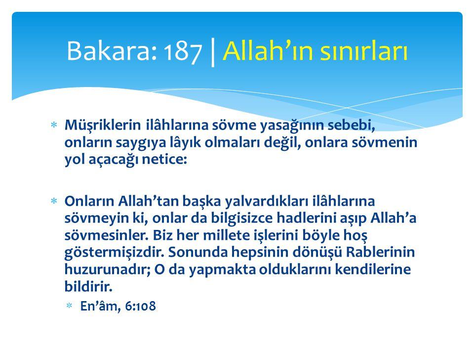 Bakara: 187 | Allah'ın sınırları