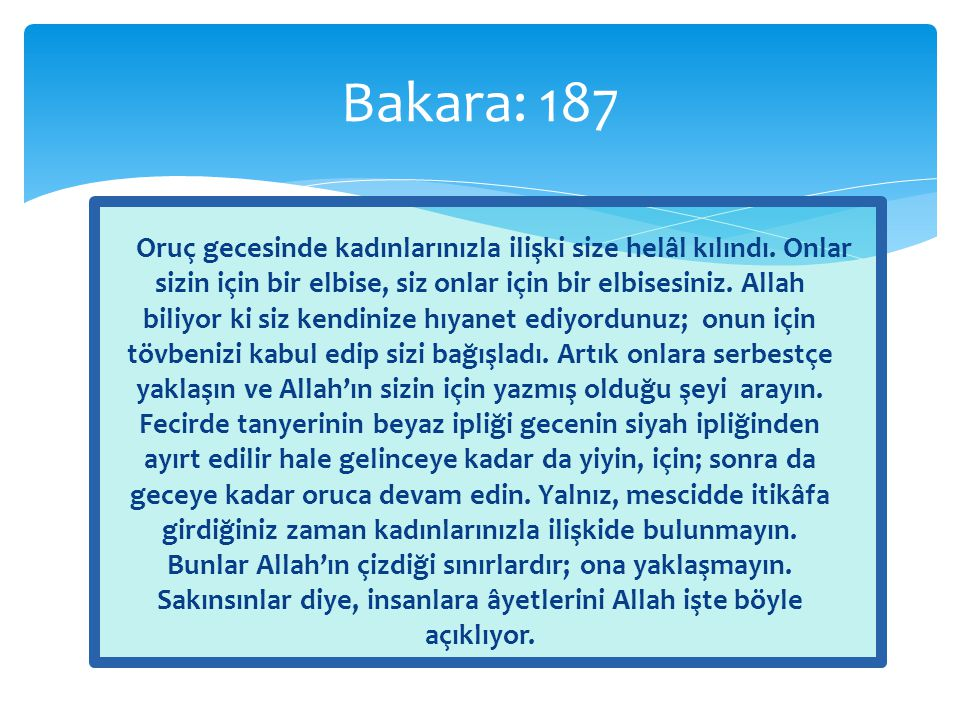 Bakara: 187