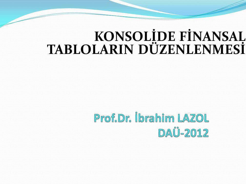 Prof.Dr. İbrahim LAZOL DAÜ-2012