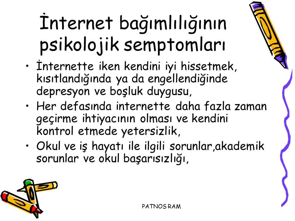 İnternet bağımlılığının psikolojik semptomları