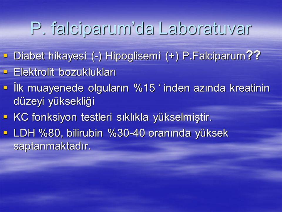P. falciparum'da Laboratuvar