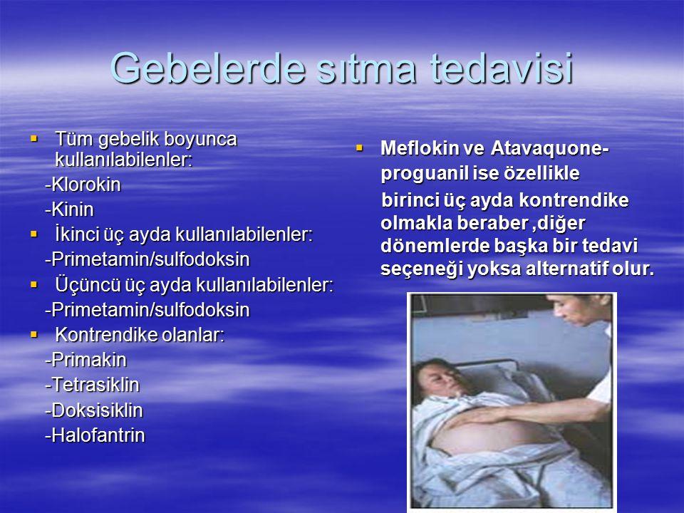 Gebelerde sıtma tedavisi
