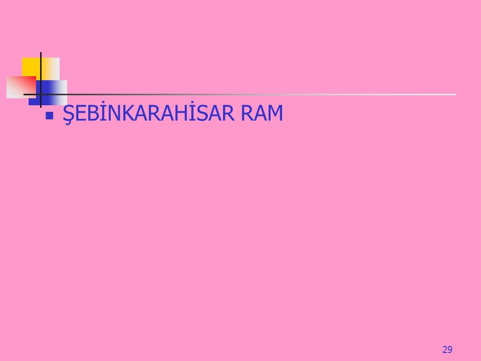 ŞEBİNKARAHİSAR RAM