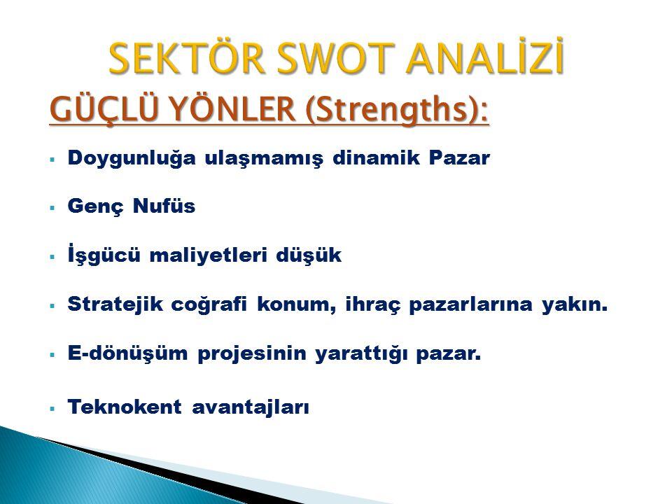 SEKTÖR SWOT ANALİZİ GÜÇLÜ YÖNLER (Strengths):