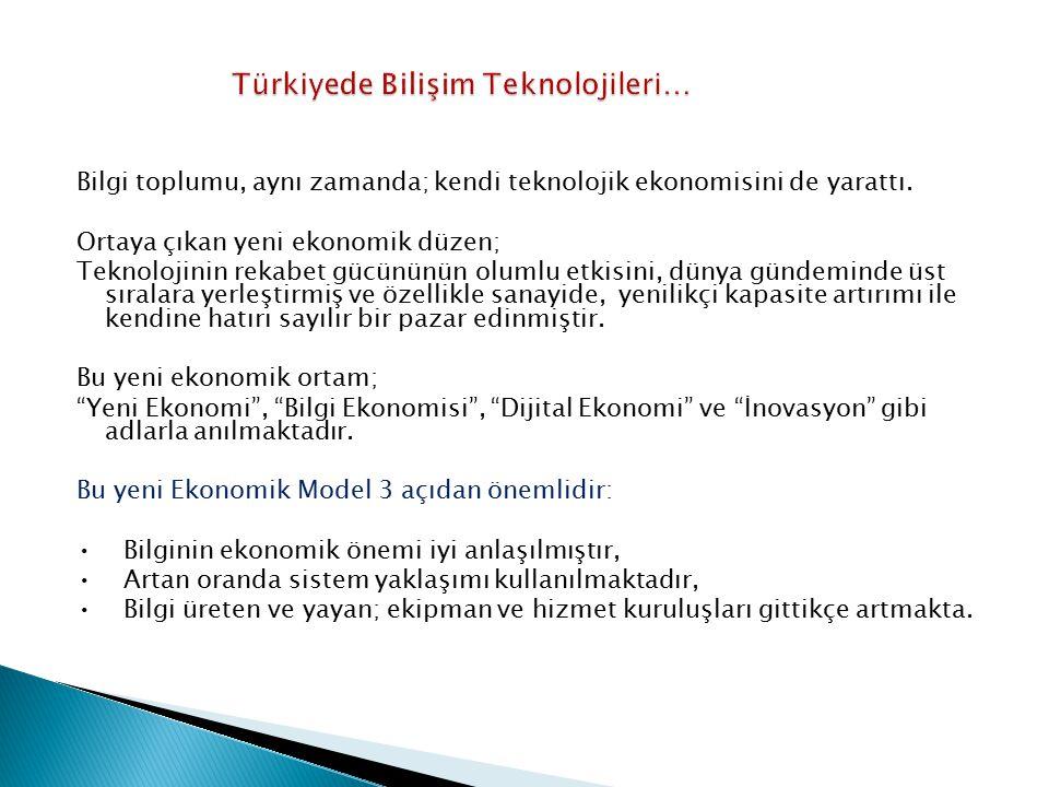 Türkiyede Bilişim Teknolojileri…