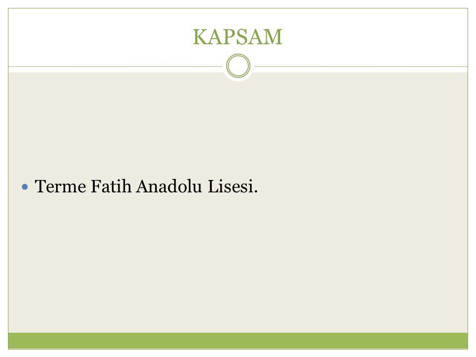 KAPSAM Terme Fatih Anadolu Lisesi.