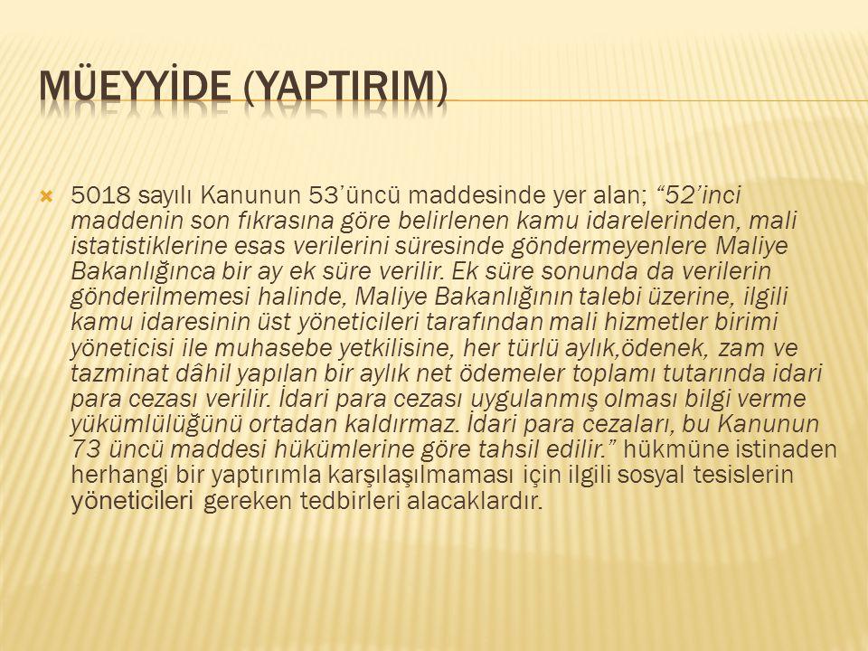 MÜEYYİDE (YAPTIRIM)