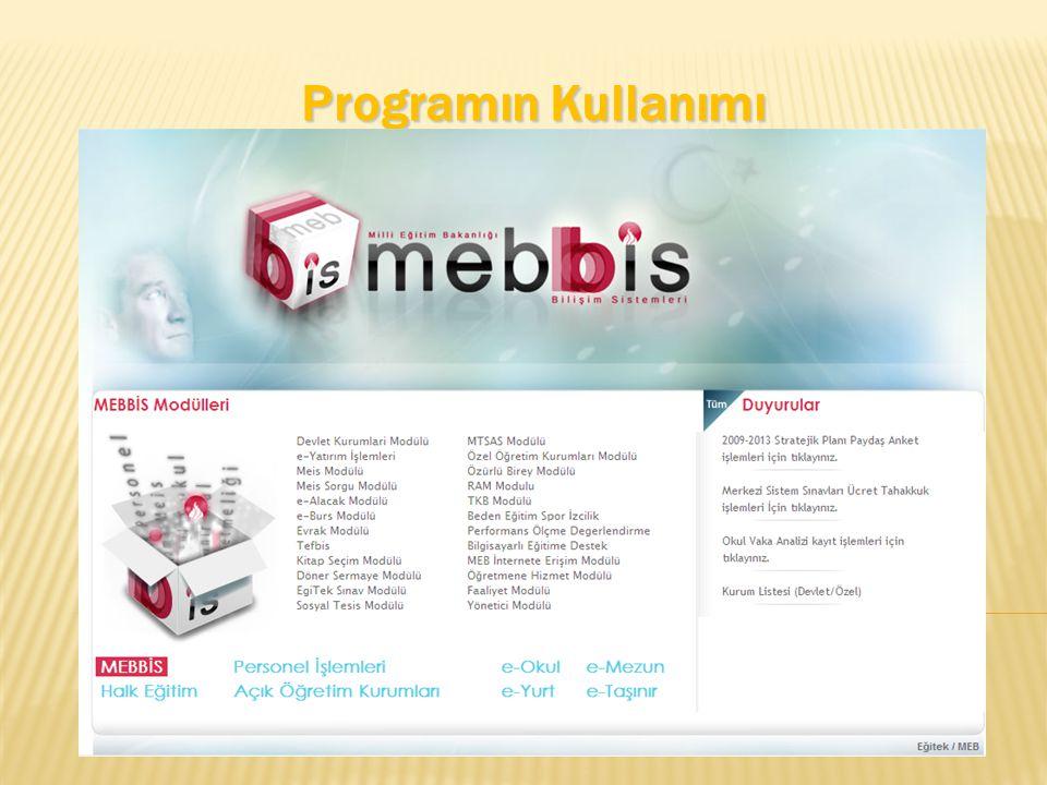 Programın Kullanımı
