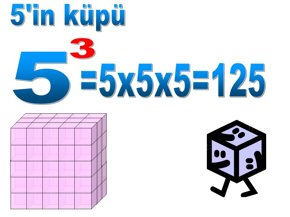 5 in küpü 3 5 =5x5x5=125