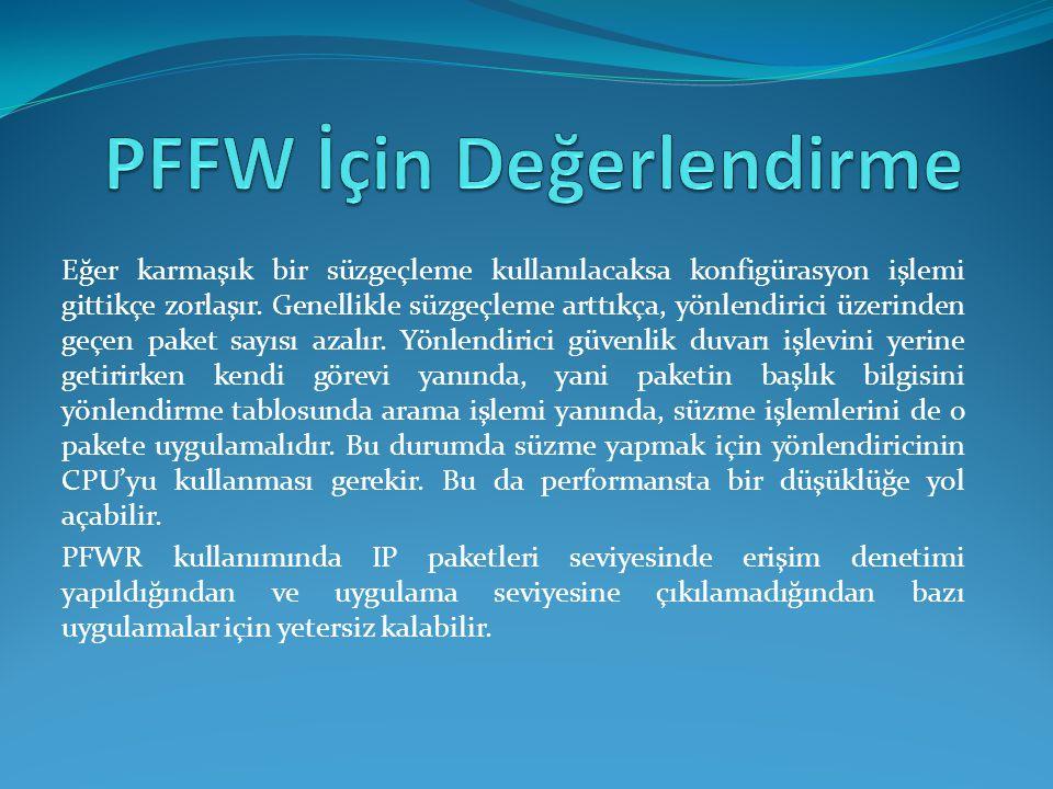 PFFW İçin Değerlendirme