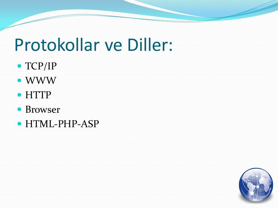 Protokollar ve Diller: