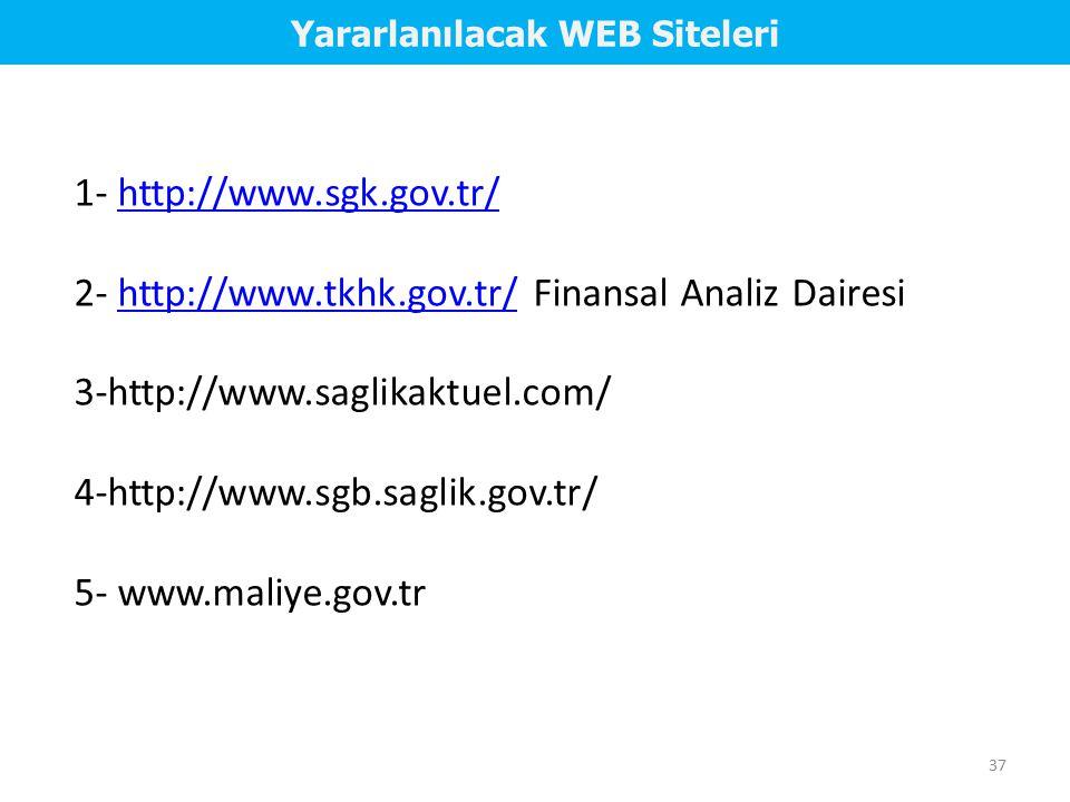 Yararlanılacak WEB Siteleri